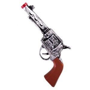 Cowboy Gun Toy Fake Kids Wild West Fun Pretend Pistol Revolver 22cm Fancy Dress