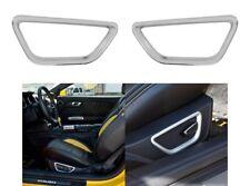 2015-2017 Ford Mustang Satin Silver Front Seat Side Adjust Trim Bezel Highlight