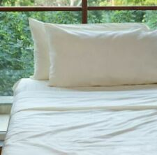 FABDREAMS Percale Sheet Set | 100% Organic Cotton | 300 Thread Count TWIN IVORY