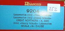 Rivarossi 9204 Empty Box 282 Heavy Mikado Great Northern N 1:160 Å
