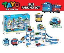 1 SET Three Floor Parking Lot With 2 CAR Toys The Little Bus TAYO Child's Gift