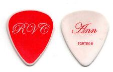 Heart Ann Wilson Signature White Guitar Pick - 2010 Red Velvet Car Tour
