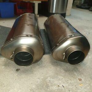 KTM 990 Akrapovic Titanium Exhaust Cans