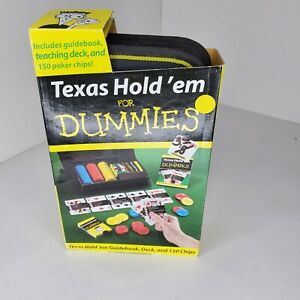 Texas Hold 'em for Dummies - Texas Hold 'em Guidebook, Teaching Deck, 150 chips