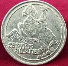 Vintage Austria Casino Ride a Lucky Wave Token Coin Cowboy on Horse