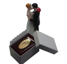 DOUBLE WEDDING Ring Box PERSONALISED ENGRAVED Polished Wooden Case Engagement