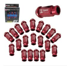 RED 20 Pieces D1SPEC Light Weight Billet Racing Wheel Lug Nut Nuts M12x1.25