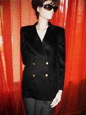 ESCADA Jacket BLACK  WOOL BLEND W POCKETS Lined SIZE 6 /34 ! MADE IN GERMANY!