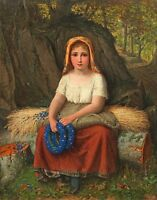 """perfect 24x36 oil painting handpainted on canvas """" Farm girl""""@N15049"""