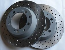 Fits 84-89 911 Carrera Cross Drilled Brake Rotors Made In Germany Rear