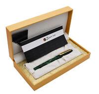 New Picasso Celluloid Fountain Pen Aurora Green PS-975 Iridium Fine Gift Pen