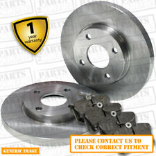 Rear Brake Pads + Brake Discs Full Axle Set 302mm Ø Solid Fits Ford