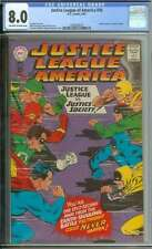 JUSTICE LEAGUE OF AMERICA #56 CGC 8.0 OW/WH PAGES