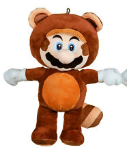 """OFFICIAL NEW SUPER MARIO BROS 13"""" MARIO IN RACCOON COSTUME PLUSH SOFT TOY"""