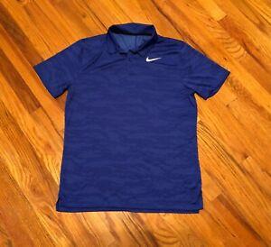 NIKE GOLF Men's Dri-Fit Ultimate Camo Standard Fit Polo AH8696 BLUE - MEDIUM