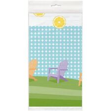 SUMMER Sunny Chairs PLASTIC TABLE COVER ~ Birthday Party Supplies Decorations