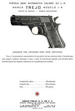 Armas Trejo M1A-A  C1964 Semi Auto Pistol 22 cal Parts Flyer (Mexico)