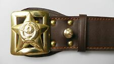 USSR Soviet Red Army Military Officer Generals Genuine leather Belt Buckles NEW