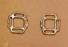 "RDLC 3-Slot Reversible Halter Corners in 1:9 Model Scale for 3/32"" or 1/8"" GOLD"