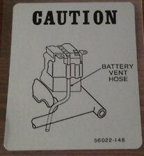 KAWASAKI Z750 Z750B KZ750 KZ750B Calcomanía de advertencia de precaución Doble Batería Respiradero