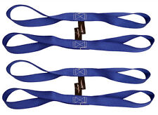 """4 pack 18"""" Blue Tie Down Extension Soft Touch Loops Straps Motorcycle ATV"""
