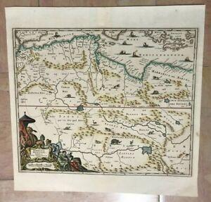 MOROCCO ALGERIA TUNISIA LIBYA 1686 DAPPER NICE UNUSUAL ANTIQUE MAP 17TH CENTURY