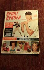 1963  Sport Heroes Baseball magazine,Mickey Mantle,Yankees,Willie Mays MLB