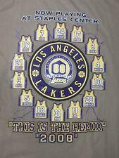 "Los Angeles Lakers NBA KOBE BRYANT 2008 ""REMIX"" Shirt STAPLES CENTER PRO T 2XL"