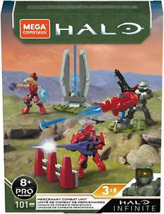 NEW Mega Construx HALO INFINITE GRN03 Mercenary Combat Unit BNIB