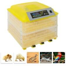 96 Eggs Incubator Led Digital Temp Control Poultry Hatcher Duck Bird 100W