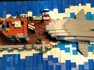 Marke Blue Brixx, Shark Attack, 1257 Teile, 51 cm lang, gebraucht,