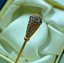 ANTIQUE  14K YELLOW GOLD  LONG HAT PIN