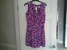 Ladies 'Lashes of London' Summer Floral Dress - Size 10 - Part Open Back