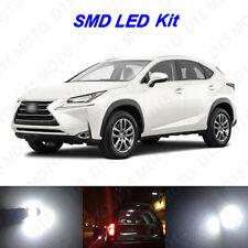 6x White LED Trunk Vanity Mirror Reverse Light Bulbs for 2015 2016 Lexus NX200t