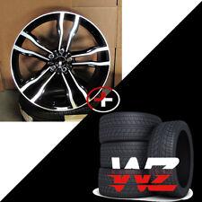 """22"""" 612 Style Wheels fits BMW X5 X6 X5M X6M Machined Black Finish w/ Tires"""