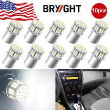 10pcs White 1156 BA15S 50SMD Backup Reverse 5050 LED Light Bulb Turn Signal 1141