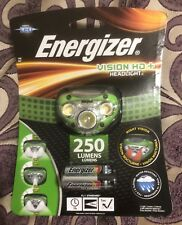 Energizer Vision HD+ Headlight 250 Lumens LED Head Torch Headlamp 3AAA batteries