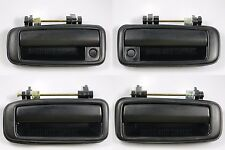 Set of 4 Outside Door Handle Textured Black for 88-91 Corolla Prizm