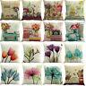 Cushion Cover Watercolor Pillow Case Cotton Flax Sofa Home Decorative 45 x 45 cm