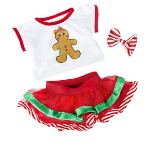 Adorable Gingerbread Girl Outfit Fits Most 8 to 10 inch Build A Bear and Make Yo