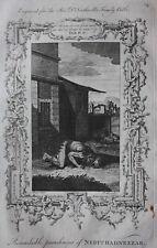 Impresión Original Antigua castigo de Nabucodonosor, Dr. Southwell Biblia, 1774