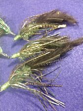 Bass Craw Crawlers, Black/Holographic Green, Holographic Heads, Sold per 3/ NEW*