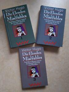Victor Hugo - Die Elenden / Les Miserables - 3 Bände