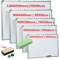 Magnetic Whiteboard Small Large White Board Dry Wipe Notice Office School Home