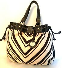 Juicy Couture Tote Bag Large Black & White