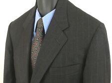 Hickey Freeman Collection Boardroom 100% Wool Black Striped Blazer Size 42 R