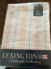 LEXINGTON AUTHENTIC COLLECTION CHECKERED MULTI DUVET COVER DOUBLE FREE POSTAGE