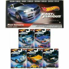 Hot Wheels Fast & Furious 1:64 Scale Set of 5 Premium Cars (GRB02)
