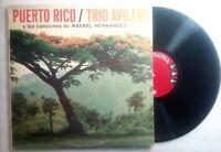 Trio Avileno Puerto Rico Rafael Hernandez Columbia Record Vinyl LP VG+ LP#0742