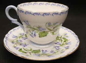 """Shelley """"Harebell (Richmond)"""" 13544  Duo of Cup and Saucer"""